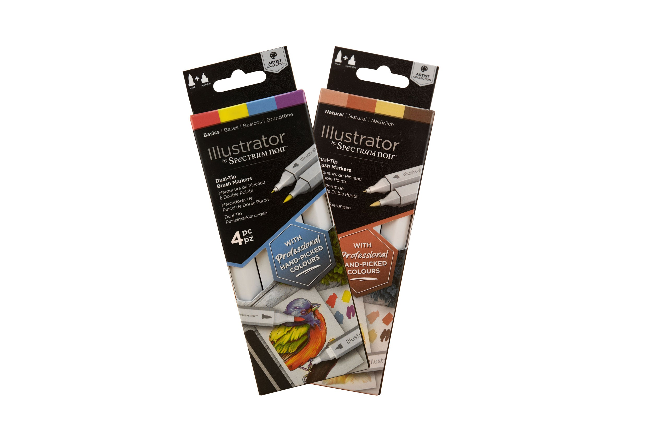 SPECTRUM NOIR ILLUSTRATOR 4PC PEN SET - BASICS & NATURAL