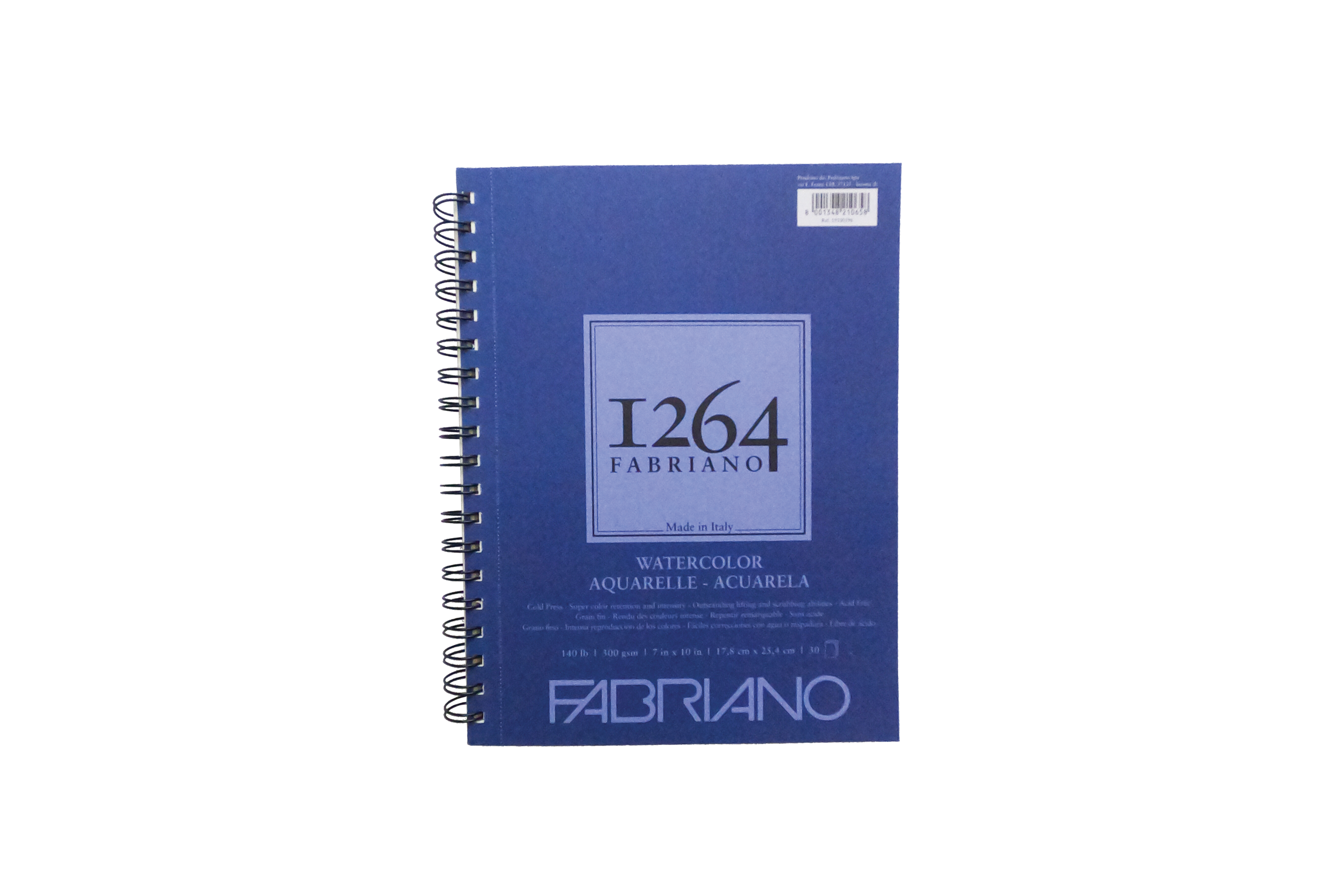"""FABRIANO 1264 WATERCOLOR PADS, SPIRAL-BOUND, 7"""" X 10"""""""