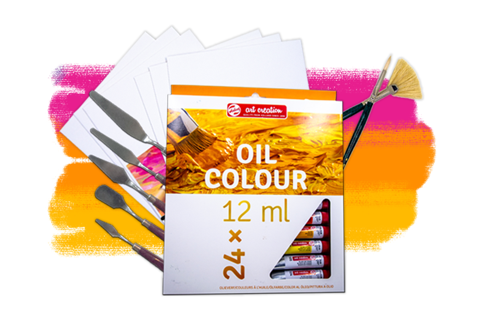 Smart art march box for oil painting