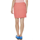 "My Flame women's golf Skort 18"" length with tailored fit and stretch fabric in cayenne."
