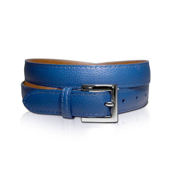 Blue Leather Belt is 100% genuine leather imported from Italy.