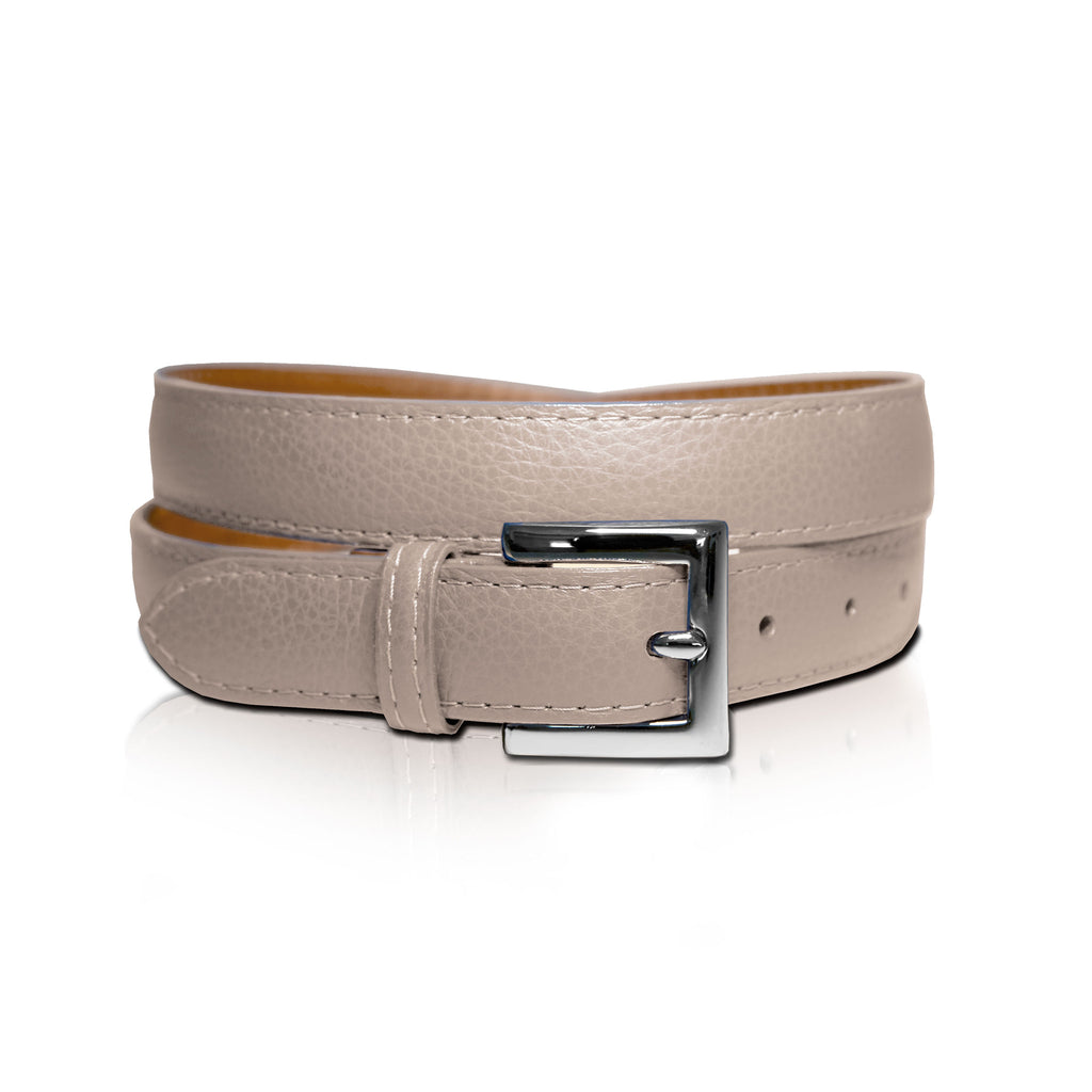 Mocha Leather Belt is 100% genuine leather imported from Italy.