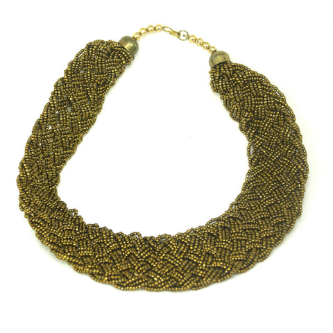 Monsoon Gold Beads Necklace