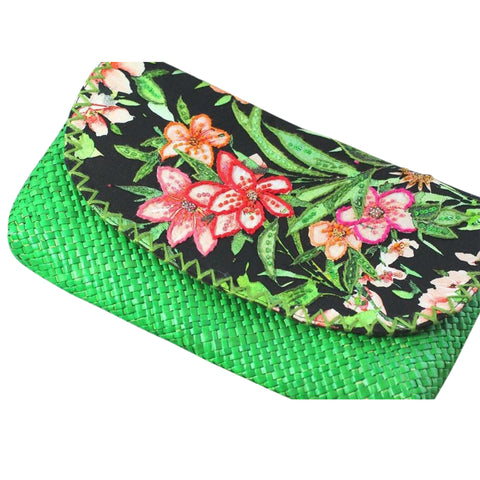 Tropical Lush Green Envelope Clutch