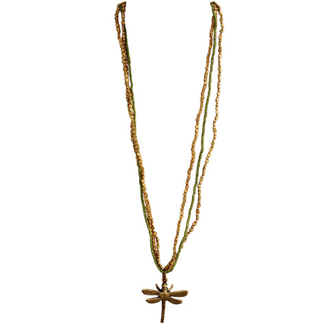 Barasata Dragonfly Necklaces - Green