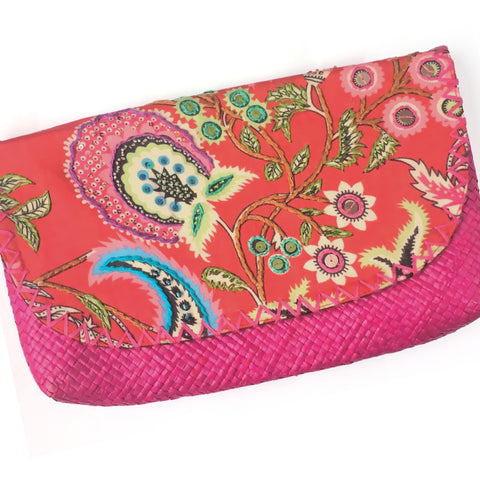 Pink Tribal Envelope Clutch
