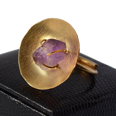 Amethyst Cocktail Ring | The Nomadic Trails