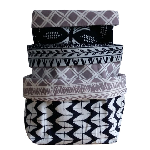 Black Raven - Reversible Fabric Bins (set of 3)