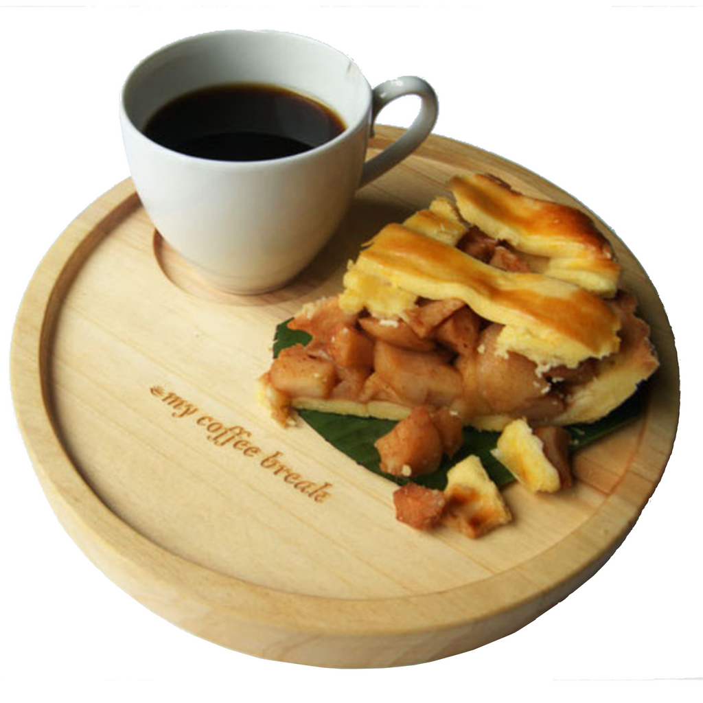 My Coffee Break Wooden Tray