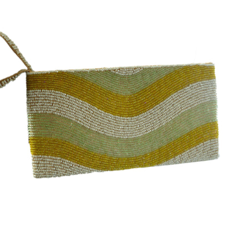 Green Celadon Nirvana Beaded Wristlet | The Nomadic Trails