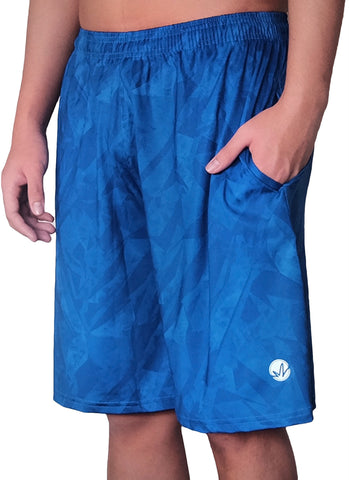 Blue Shards Training Shorts
