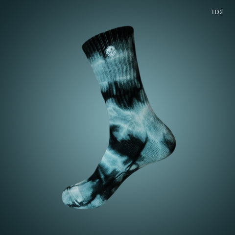 [LIMITED EDITION] WM Tie Dye Crew Socks Ocean Green