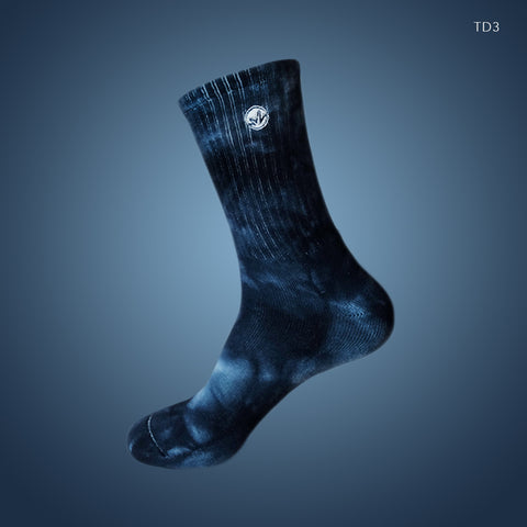 [LIMITED EDITION] WM Tie Dye Crew Socks Navy Blue