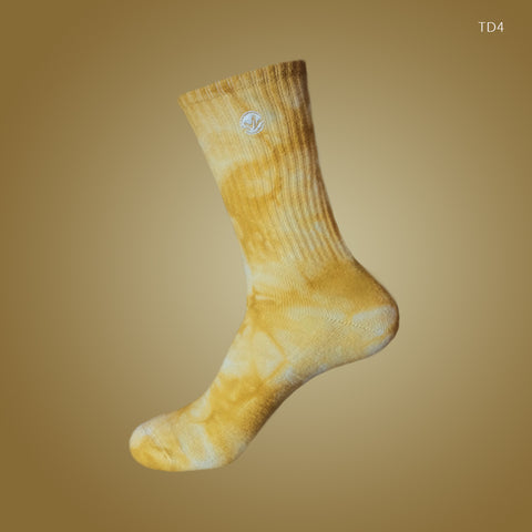 [LIMITED EDITION] WM Tie Dye Crew Socks Mustard Yellow