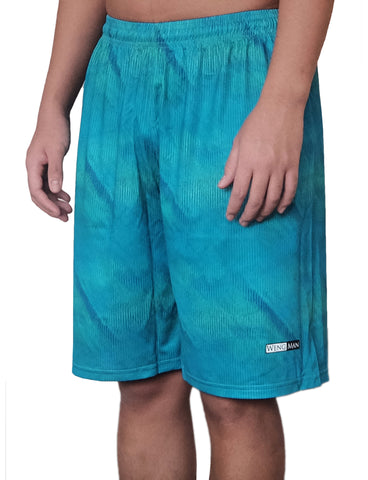 Teal Current Training Shorts