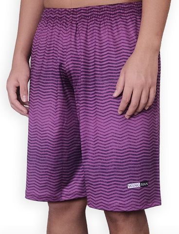 Purple Stripped Training Shorts