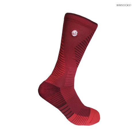 WM Performance Socks in BLOODSHED