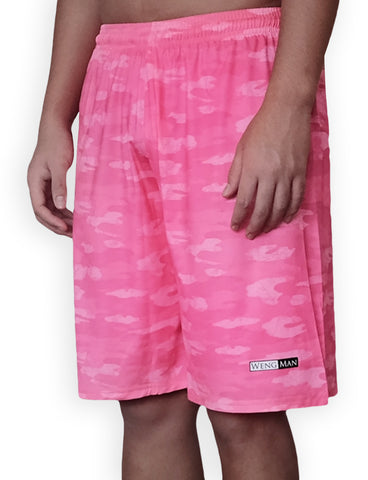 Pink Camou Training Shorts