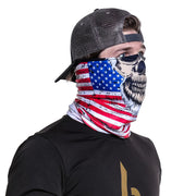 face buff - red white blue