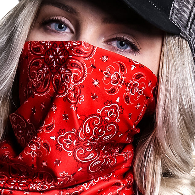 Paisley Traditional Red | Neck Gaiter