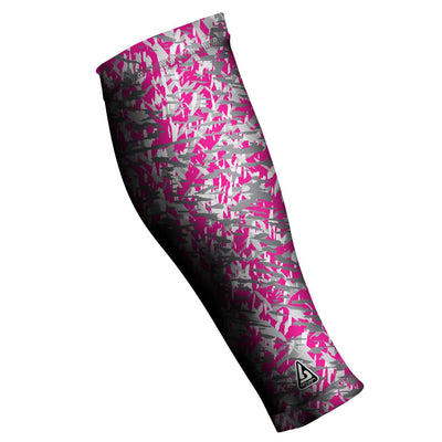 UNISEX COMPRESSION CALF SLEEVES, CAMO SHATTERED PINK