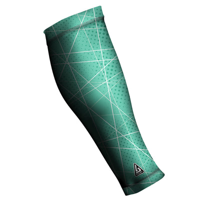 UNISEX COMPRESSION CALF SLEEVES, TEAL