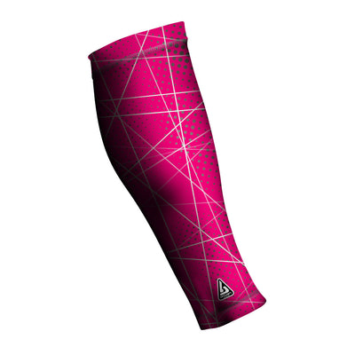 UNISEX COMPRESSION CALF SLEEVES, Custom Pattern RED