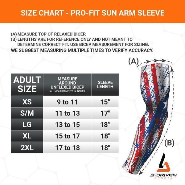 golfers arm sleeves size guide
