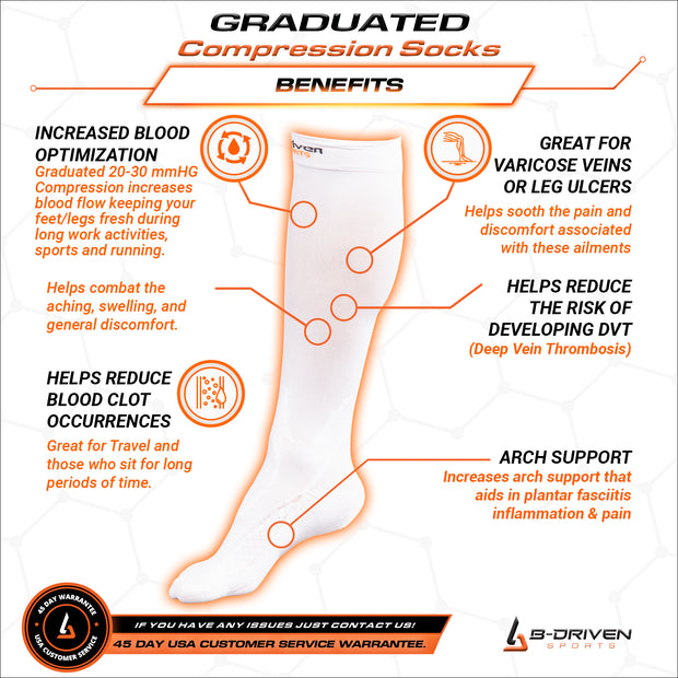 Graduated Compression Socks White