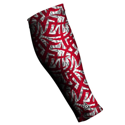UNISEX COMPRESSION CALF SLEEVES, Tribal Ink RED