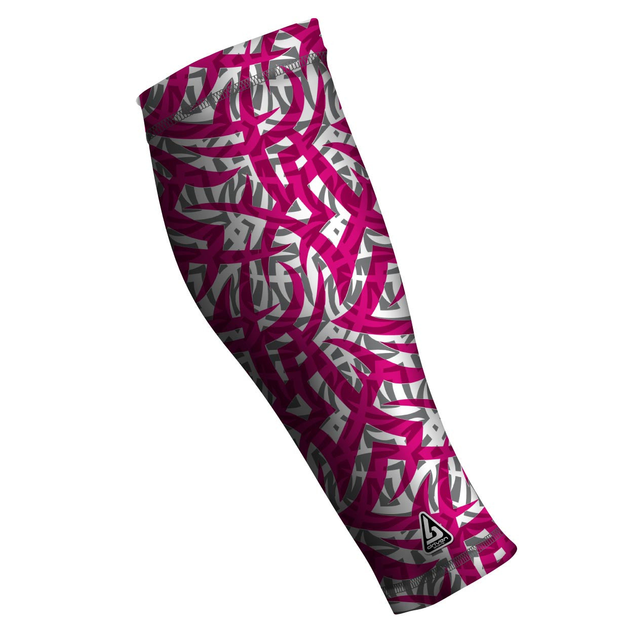 running compression sleeves tribal pink