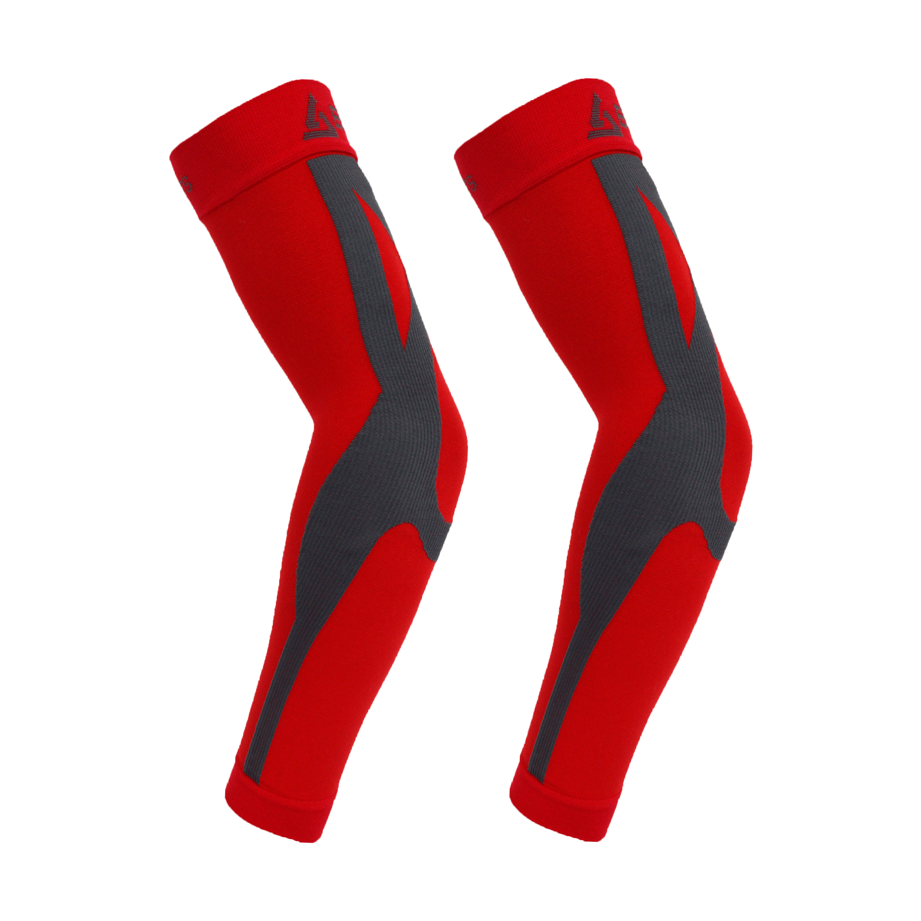 ENHANCED GRADUATED COMPRESSION ARM SLEEVE (PAIR) (RED)