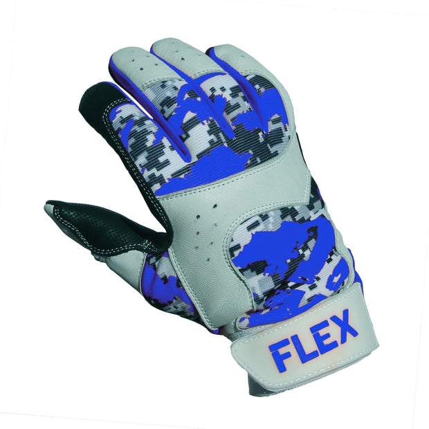 flex batting glove blue