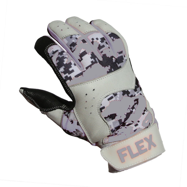 flex batting glove grey