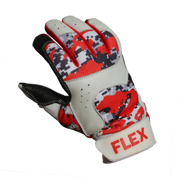 flex batting glove red