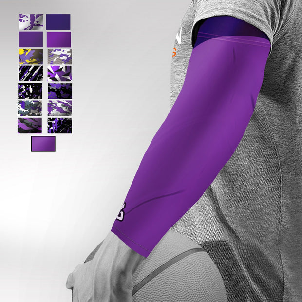 Purple Basketball Arm Sleeve - Multiple Patterns