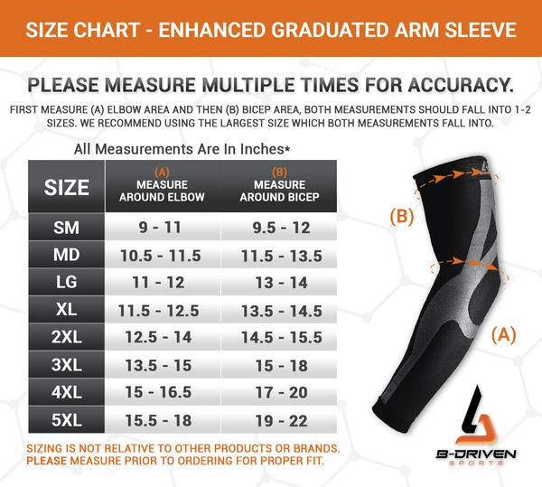 Enhanced Graduated Arm Sleeve | Black - Pair