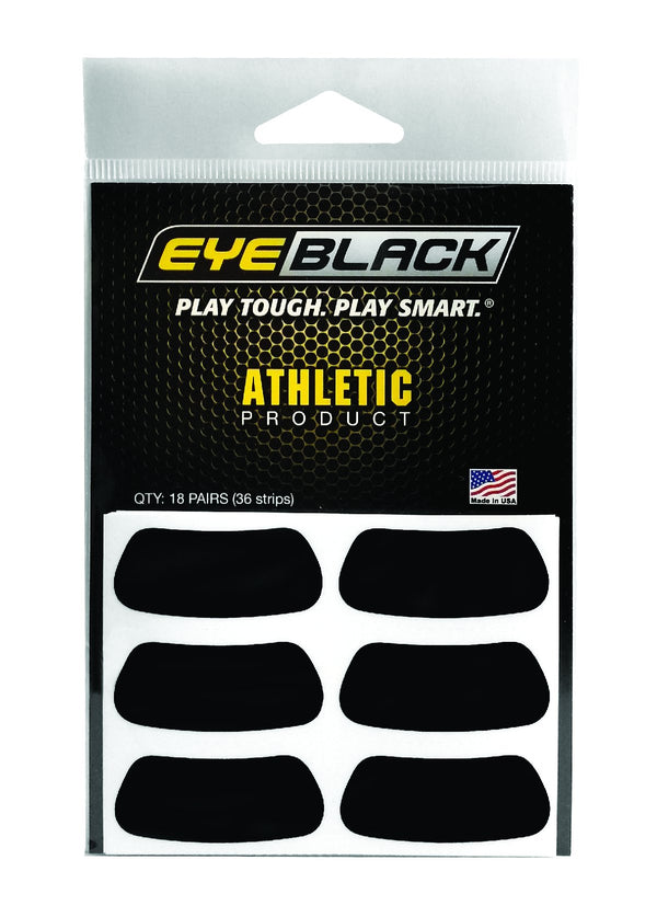 Eye Black Adhesive Stripes BLACK 18 PACK