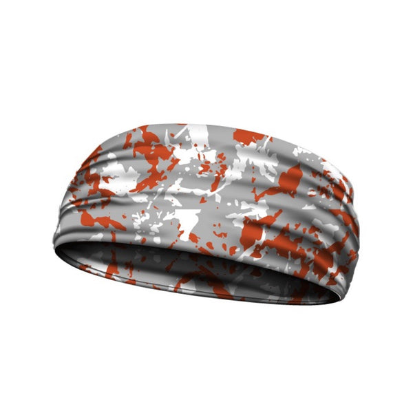 headbands flaked camo orange 3 widths available