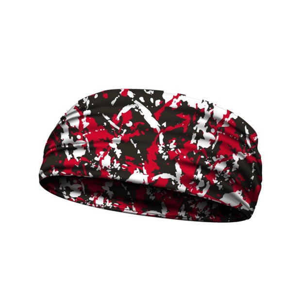 headbands flaked camo red 3 widths available