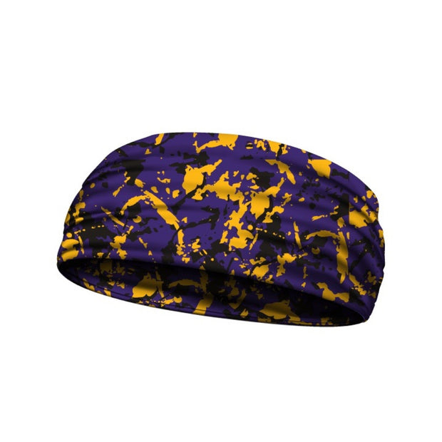 headbands purple and yellow 3 widths available