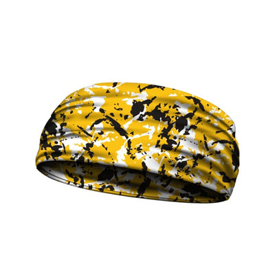 Flaked Camo Yellow and Black