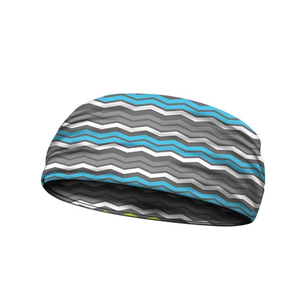 headbands chevron blue 3 widths available