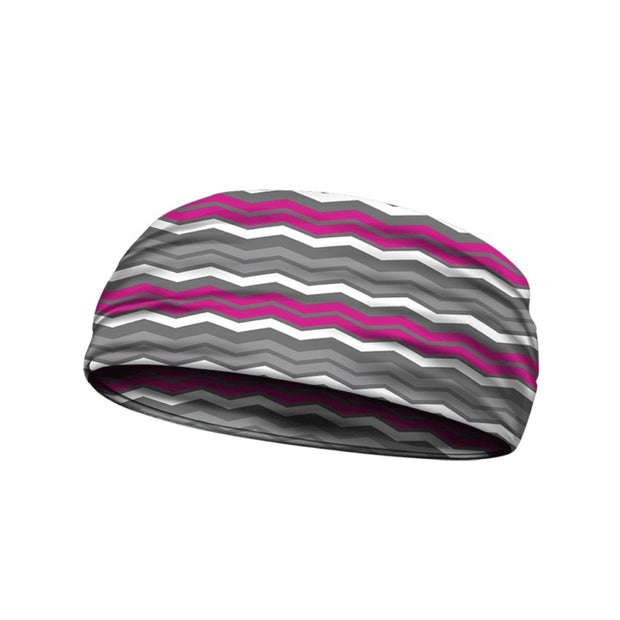 headbands chevron pink 3 widths available