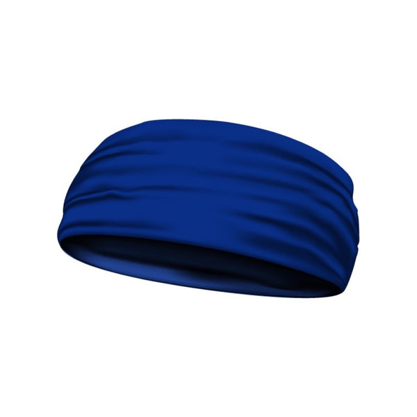 headband solid blue