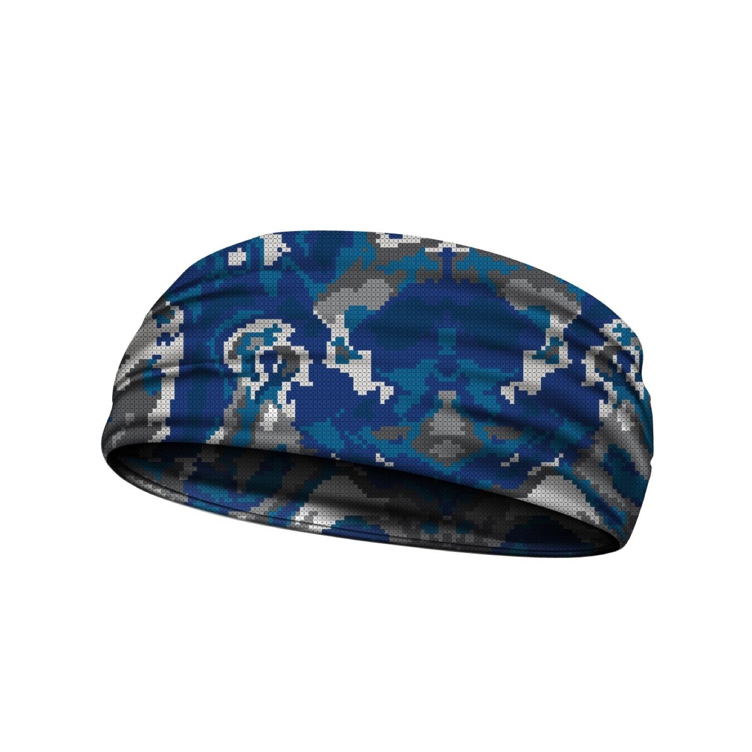 headbands wicked camo blue 3 widths available