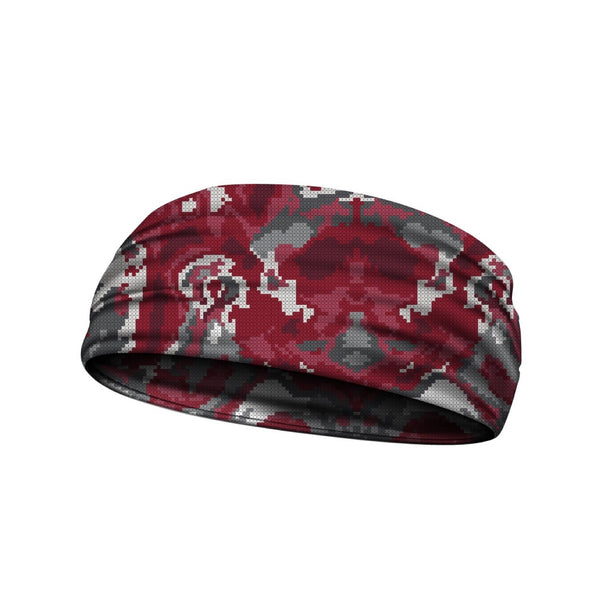 headbands wicked camo maroon 3 widths available
