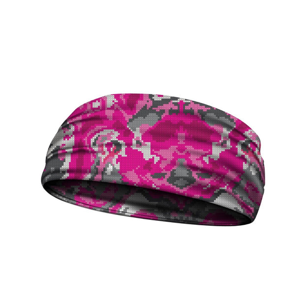headbands wicked camo pink 3 widths available