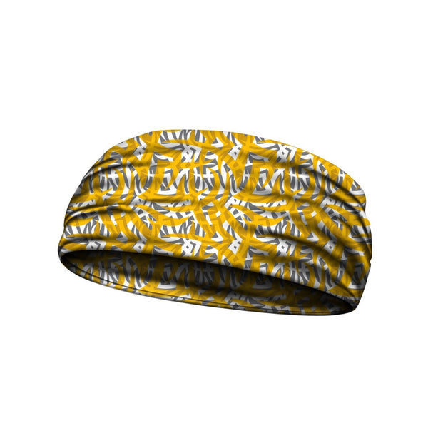 headbands tribal ink yellow 3 widths available