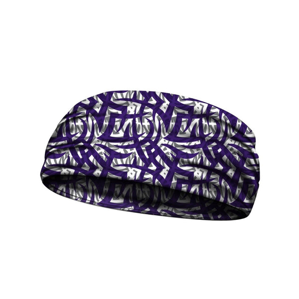 headbands tribal ink purple 3 widths available